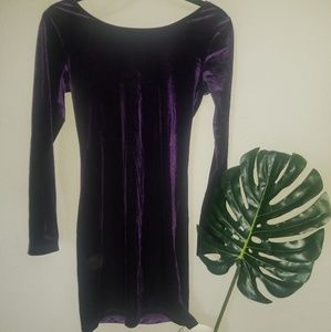 Purple Velvet Little Dress